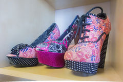 Zapatos de plataforma Fotografía de archivo