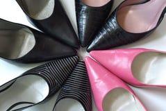 Zapatos de punta acentuados Imagenes de archivo