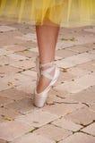 Zapatos de punta del ballet Foto de archivo libre de regalías