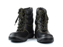 Zapatos de seguridad ásperos Fotos de archivo