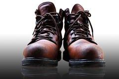 Zapatos de seguridad viejos Imagen de archivo libre de regalías