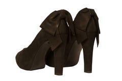 Zapatos de tacón alto negros imagen de archivo