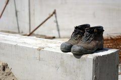 Zapatos de trabajo Fotos de archivo libres de regalías