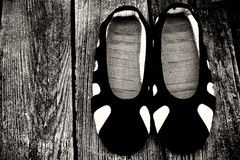 Zapatos de un monje de Shaolin Temple Foto de archivo