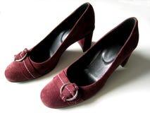 Zapatos del ante fotos de archivo