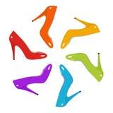 Zapatos del arco iris Imagenes de archivo