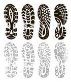 Zapatos del deporte de la huella Imagenes de archivo