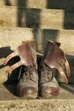Zapatos del ejército Fotos de archivo libres de regalías