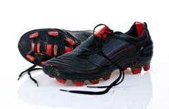 Zapatos del fútbol Fotografía de archivo libre de regalías