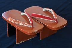 Zapatos del geta de la vendimia Imagen de archivo