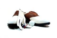 Zapatos del golf Fotos de archivo libres de regalías