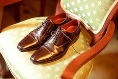Zapatos del hombre Imagenes de archivo