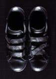 Zapatos del hombre negro Imagenes de archivo