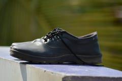 Zapatos del hombre negro Imagen de archivo libre de regalías