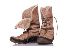 Zapatos del invierno Imagenes de archivo