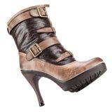 Zapatos del invierno de las mujeres elegantes Fotografía de archivo libre de regalías
