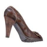 Zapatos del invierno de las mujeres elegantes Foto de archivo libre de regalías