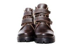 Zapatos del invierno de los pares Foto de archivo