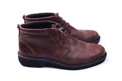 Zapatos del Mens aislados en blanco fotografía de archivo