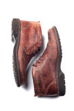 Zapatos del Mens aislados en blanco imagenes de archivo
