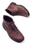 Zapatos del Mens aislados en blanco imagen de archivo