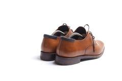 Zapatos del Mens con el ensanchador dentro fotos de archivo