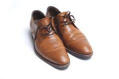 Zapatos del mens de Brown fotos de archivo