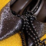Zapatos del partido Fotos de archivo libres de regalías