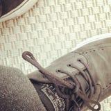 Zapatos del patín Fotos de archivo
