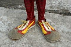 Zapatos del payaso Fotos de archivo