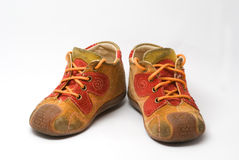 Zapatos del payaso del bebé Imagenes de archivo