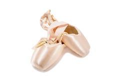 zapatos del pointe del ballet imágenes de archivo libres de regalías