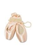 zapatos del pointe del ballet Imagen de archivo