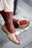 Zapatos del Punjabi Foto de archivo libre de regalías