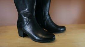 Zapatos del `s de las mujeres almacen de metraje de vídeo