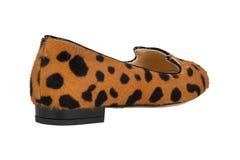 Zapatos Zapatos del ` s de las mujeres en un fondo blanco calzado superior Zapatos calificados italiano Fotos de archivo libres de regalías