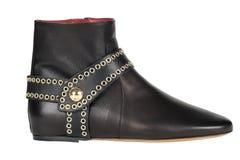 Zapatos Zapatos del ` s de las mujeres en un fondo blanco calzado superior Zapatos calificados italiano Imágenes de archivo libres de regalías