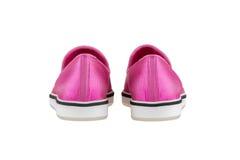 Zapatos del ` s de las mujeres en un fondo blanco calzado superior Zapatos calificados italiano Fotos de archivo libres de regalías
