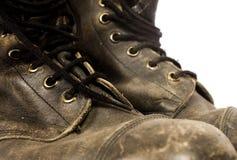 Zapatos del senderismo Fotografía de archivo