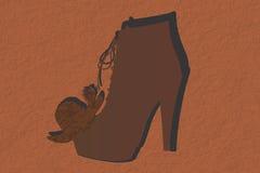 Zapatos del sombrero Fotografía de archivo libre de regalías
