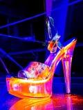Zapatos del 'strip-tease' Imagen de archivo libre de regalías