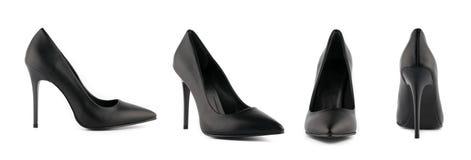 Zapatos del tacón alto del estilete de la mujer aislados imágenes de archivo libres de regalías