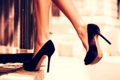 Zapatos del tacón alto Foto de archivo libre de regalías
