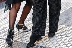 Zapatos del tango Fotos de archivo