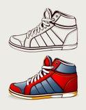 Zapatos del vector Fotografía de archivo libre de regalías