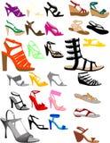 Zapatos del verano de las siluetas Foto de archivo