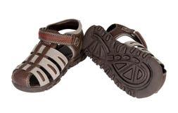 Zapatos del verano del bebé Imágenes de archivo libres de regalías
