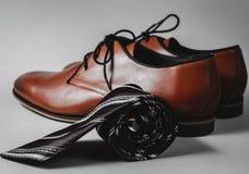Zapatos elegantes con el lazo Imágenes de archivo libres de regalías