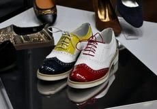 Zapatos elegantes de las señoras Imagen de archivo libre de regalías