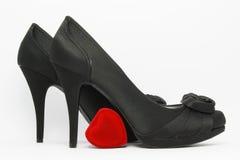 Zapatos elegantes negros Foto de archivo